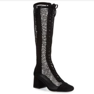 NWT Jeffrey Campbell Diviner mesh knee high boots.